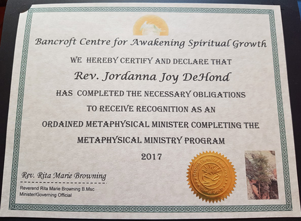 Certification - Bancroft Center for Awakening Spiritual Growth